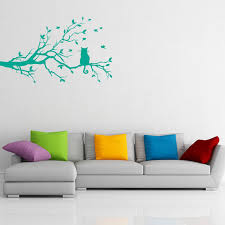 To Do Stickers Cat On A Branch Wall Sticker Decal Black W96 X H57 Amazon