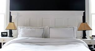 barn door headboard for sale white shade table lamp on wooden bed