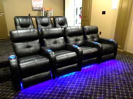 cute home theatre furniture with recliners leather sofa and