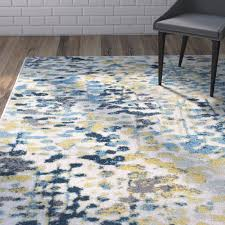 Gray And Yellow Rugs Varick Gallery Ladson Yellow Blue Area Rug U0026 Reviews Wayfair