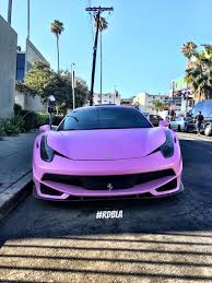 purple ferrari rdbla u2013 satin pink ferrari 458 rdb la five star tires full