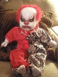 Kids Scary Clown Halloween Costumes Swinging Dead Clown 36
