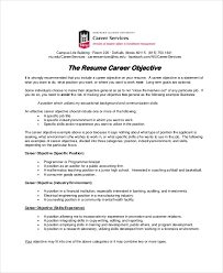 Job Objectives On A Resume by 18 Sample Resume Objectives Free Sample Example Format Free
