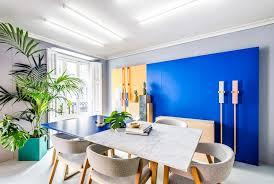 masquespacio u0027s colourful interior and branding for its own studio