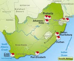 Map South Africa Map Of South Africa As An Infographic In Green Royalty Free