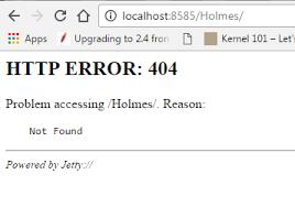 erro 404 no encontrado geapcombr java webapplication in embedded jetty getting error 404 not found