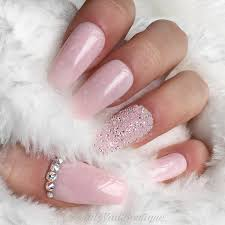 light pink marble pixie crystal press on nails rose gold chrome