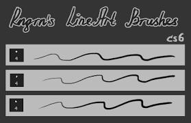 lineart brushes by ringreen on deviantart