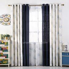 White And Navy Curtains Navy Blue And White Cotton Linen Country Curtains