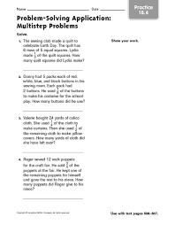 multi step word problems 5th grade printable problem solving application multi step problems 4th 6th grade