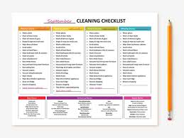 Commercial Kitchen Cleaning Checklist by New Printable Monthly Cleaning Checklist