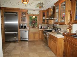 tile floors under cabinet storage kitchen electric to gas range