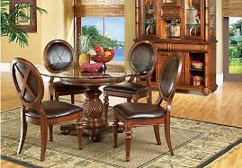 Cindy Crawford Dining Room Sets Rooms To Go Dining Room Chairs Noah Chocolate Bar Height Dining