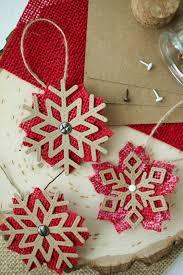 easy diy burlap ornaments the creative studio