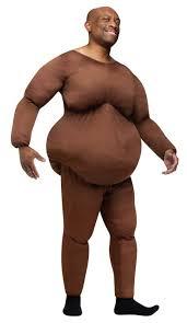 Skin Suit Halloween Costume Brown Fat Suit Costumes