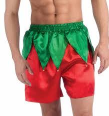 Boxer Halloween Costume Amazon Com Forum Men U0027s Elf Boxer Shorts Red Green One Size