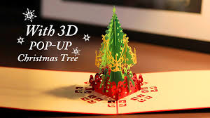 greeting card with 3d pop up tree