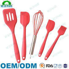 Kitchen Utensils Red - premium high quality 5 piece silicone utensil red silicone