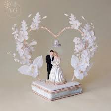 heart shaped 1950 u0027s wedding cake topper vintagegown com