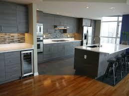 Porcelain Tile Backsplash Kitchen Seattle Condo Modern Kitchen Reface