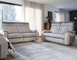 ensemble de canapé canapé relaxation electrique en tissu hcommehome