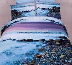 wholesale 100 cotton king size bedding sets landscape print 3d