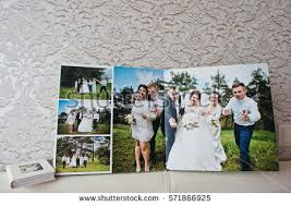 wedding photo album dual pages wedding album wedding book stock photo 571866925