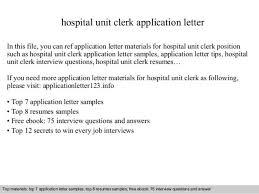 unit clerk cover letter 16 accounting clerk cover letter sample