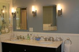 double sconce bathroom lighting home design inspiration