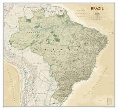 Geographical Map Of South America by Political Wall Map South America Central And Southamerica