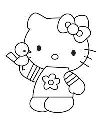 kitty black white coloring pages crafts baby u0026 kid