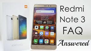 Faq Xiaomi Redmi Note 3 Faq After 5 Days Of Use Youtube