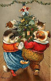 free vintage animal christmas cards christmas cards cards