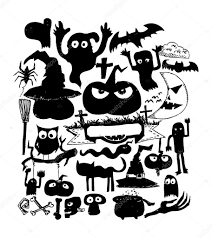 halloween images for background black and white doodle halloween holiday background u2014 stock vector porjai 32458863