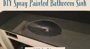 diy spray painted bathroom sink u2013 one little bird blog