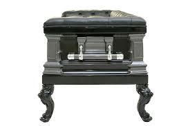 Sofa Rental Black Leather Casket Sofa Rental U2013 Dapper Cadaver Props