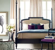 breathtaking bedroom on wooden bed frame with upholstered also and