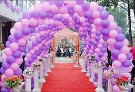 arch decoration balloon arch decorations with pink purple color
