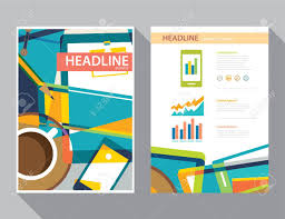 graphic design templates for flyers set of magazine cover flyer brochure flat design templates