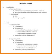 9 outline for essay format address example