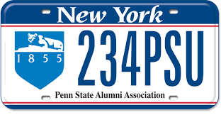 penn state alumni license plate penn state new york state of opportunity department of motor