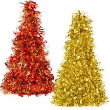 house 10 tabletop cone shaped tinsel