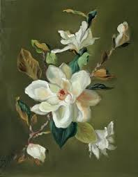 the daily muse by susan martin spar oil painting of magnolia