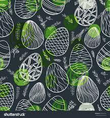 seamless pattern ornamental eggs stock vector 593704133