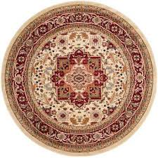 Red Round Rug Round Rugs Flooring The Home Depot