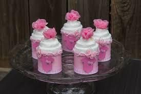 baby shower cupcakes onesie mini diaper cakes pink onesie