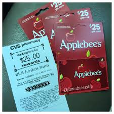 applebee s gift cards wow buy 75 in applebees gift cards get 25 ecb cvs grocery