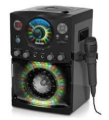 karaoke machine with disco lights amazon com singing machine sml 385 top loading cdg karaoke system