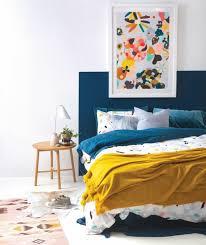 chambre bleu et chambre bleu et jaune exemple de deco canard tete lit linge couleur