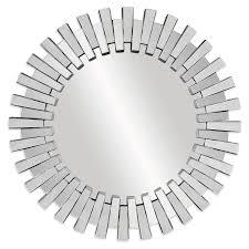 White Wall Mirror Afina Modern Luxe Round Wall Mirror 36 In Hayneedle